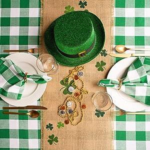 st patricks day tablecloth fabric saint patricks day table decorations shamrock table irish shamrock