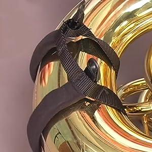 cradle wraps around lower part of tuba