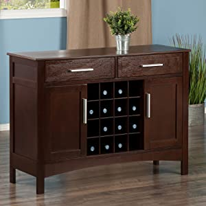 Winsome Wood Gordon Buffet Cabinet/Sideboard Cappuccino ...