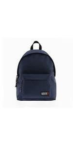 mochila de hombre comoda calidad economica puerto usb azul marino escolar unisex trabajo casual