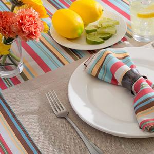 outdoor napkins, durable napkins, cloth napkins, long lasting, washable napkins, blue and white
