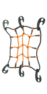 """Heininger 4249 HitchMate 12"""" x 12"""" StretchWeb Cargo Net with Bag and Hook"""