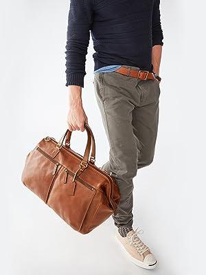 7bb45d4e31c Amazon.com   Fossil Men s Defender Duffle Black Duffel Bag One Size ...
