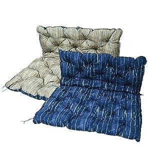 Homecall - Cojín para jardín (azul y marrón)