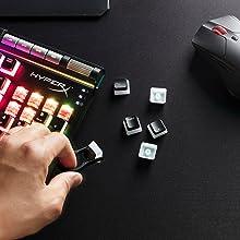 HyperX Touches Pudding - Juego Completo de Teclado (ABS, con Perfil Original), Color Negro