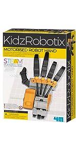 robot hand, robot arm, build your own robot, make your own robot