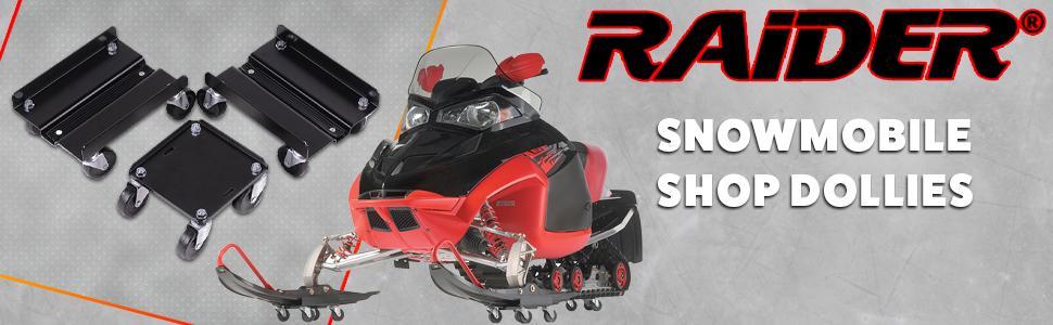 Raider SM-12165 Mini Snowmobile Dolly Set, Black Steel