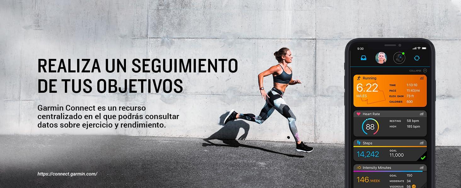 Garmin Connect es un recurso centralizado en el que podrás consultar datos sobre ejercicio y salud.