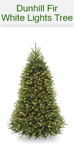 Dunhill Fir Trees with White Lights