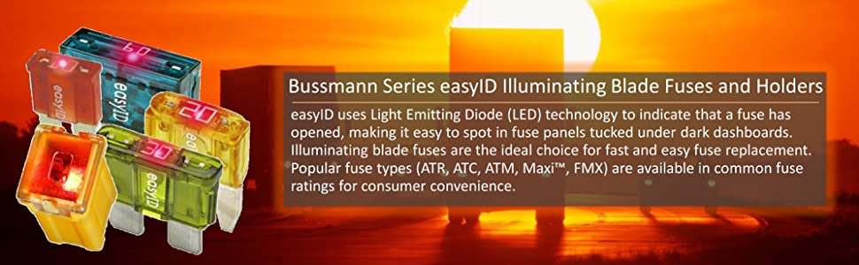 Bussmann easy ID ATM ATC ATR Maxi FMX blade Fuse Holder LED