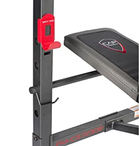 Cap Barbell Fm 7230 Standard Bench Black Red Amazon Com