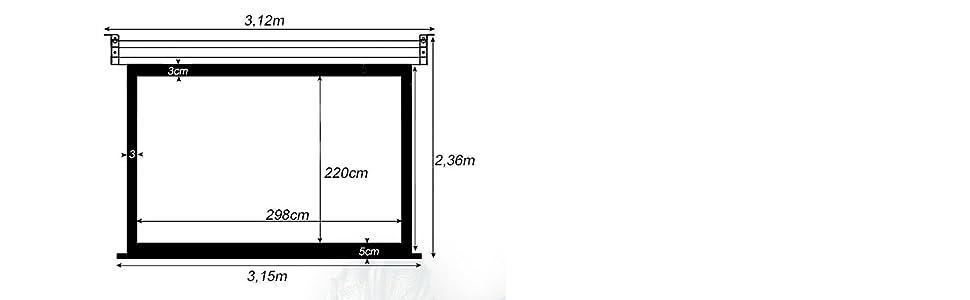 Pantalla de proyeccion Manual Luxscreen 150