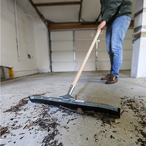 Cleaning w/ Floor Squeegee