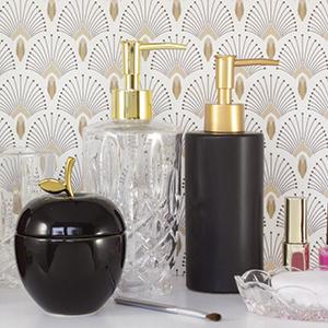 Porte-savon, boite à bijoux; distributeur de savon; accessoires de salle de bain; gelco design