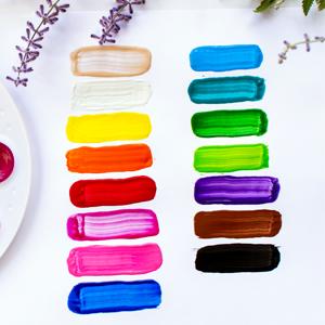 Color Swatches, 15 Washable Paint Colors, Vibrant Paint