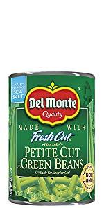 Del Monte Blue Lake Petite Cut Green Beans Can