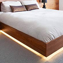 Under Cabinet Bedroom Kitchen Dimmable LED Strip Lights,Lampee 16.4ft Daylight// Warm White Non-waterproof Mirror Lighting Strip 3000-6500Kwith 12V Power Supply for Home