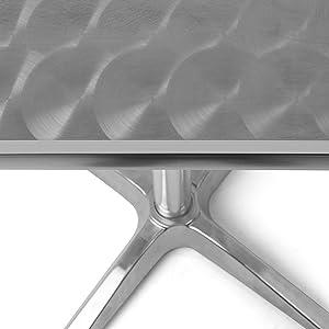 tavolino in acciaio e alluminio