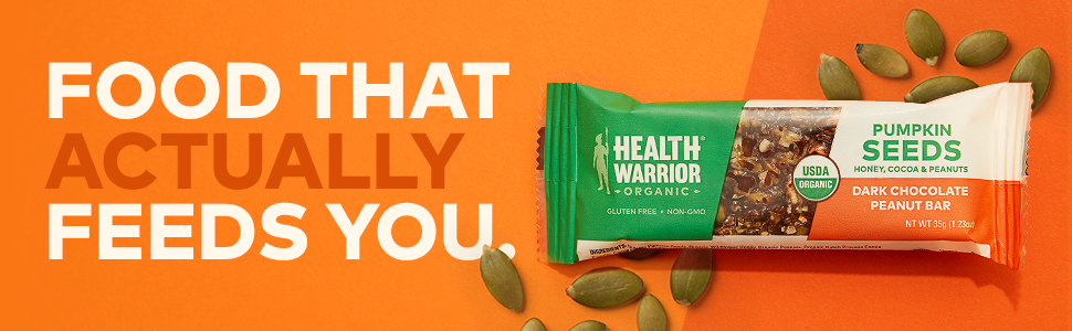 pumpkin seed bar gluten free keto paleo health food bars health warrior