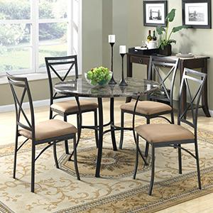A Touch of Luxury. The Faux Marble Top Dining Table ... & Amazon.com - Dorel Living Faux Marble Top Dining Table Set - Table ...
