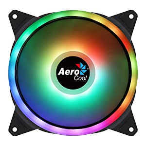 Aerocool DUO14, Ventilador 140mm, ARGB LED Dual Ring ...