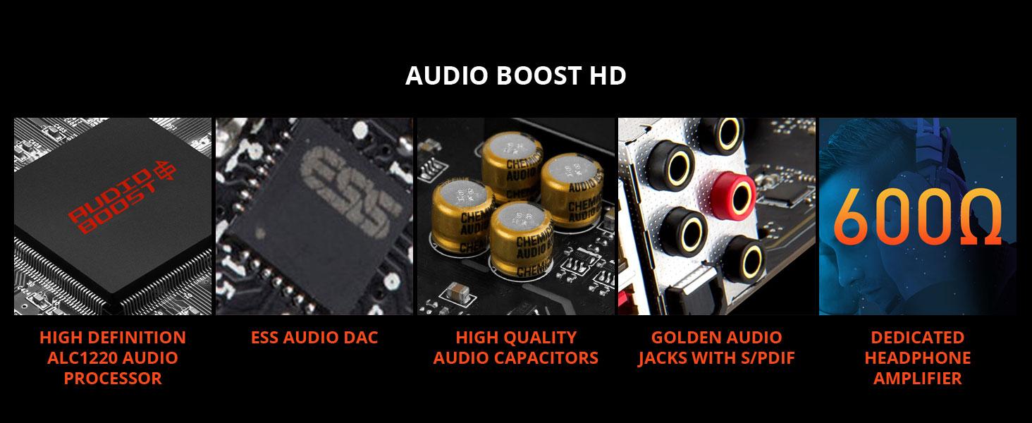 msi, meg z490 godlike, audio boost hd, 7.1 surround, motherboard audio, spdif, headphone amplifier