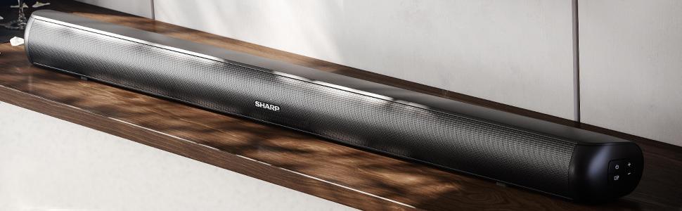 Sharp Ht Sb147 2 0 Slim Soundbar 150 Watt Mit Led Display Und Stereo Sound Usb Hdmi Bluetooth Modelljahr 2020 Audio Hifi