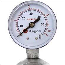Top Gauge Measures CO2 Pressure in the Keg