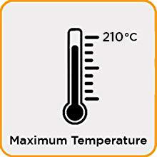 MAXIMUM TEMPERATURE 200°C