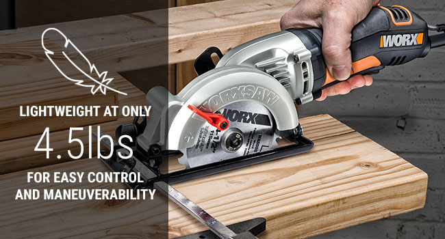 WORXSAW stores easier, travels lighter, and is much handier on the job site or in the workshop. For
