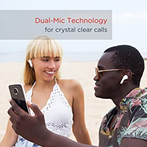 Dual-mic technology for crystal clear calls