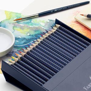 Faber-Castell 09114224 - Lápices de color aquarellables, 24 unidades: Amazon.es: Oficina y papelería