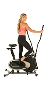 Exerpeutic Aero Air Elliptical, Exerpeutic Gold XL9 Aero Elliptical & Exercise Bike Dual Trainer ...