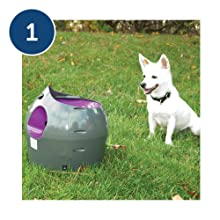 automatic ball launcher thrower tennis balls for dogs fetch size toss auto