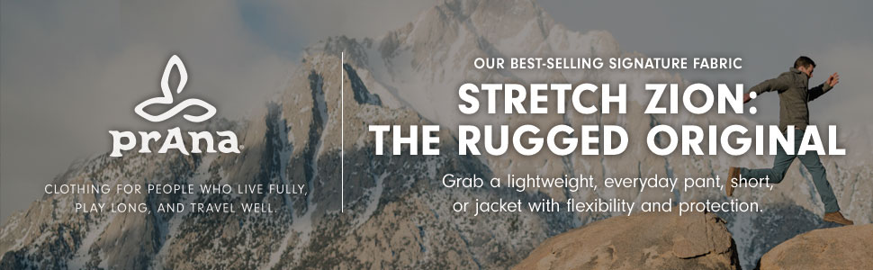stretch zion, durable, climbing, hiking, travel