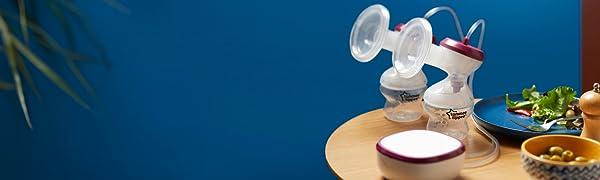 double breast pump, breastfeeding, breast pump, express, tommee tippee