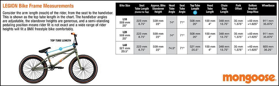 Mongoose, Legion L10, Legion L20, Legion L40, Freestyle Bike, BMX Bike, Sturdy, Durable, Rotor