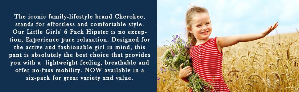 Cherokee Little Girls 6 Pack Hipster