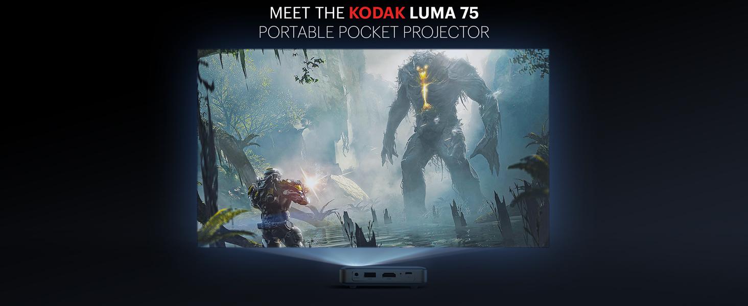 Kodak luma 75 video projector