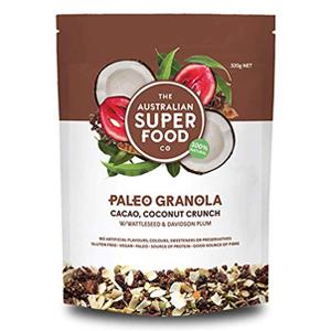 Cacao Coconut Crunch Granola Paleo Cereal Healthy Breakfast Organic NON GMO PLANTS SEEDS PROTIENS