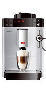 Melitta Caffeo Solo E950-111, Cafetera Automática con Molinillo, 15 Bares, Café en Grano para Espresso, Limpieza Automática, Personalizable, Plata Orgánica: Amazon.es: Hogar