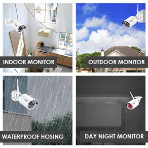 1080P Wireless Security Cameras System