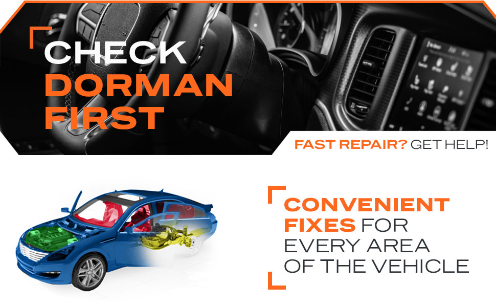 Color Coding, Fast & Easy, Check Dorman First