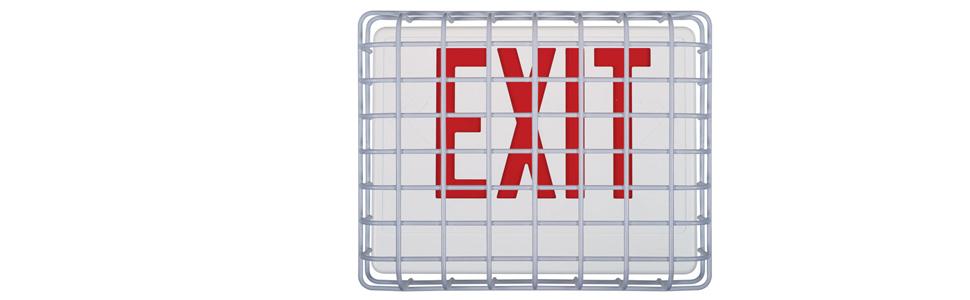 Exit Sign Damage Stopper