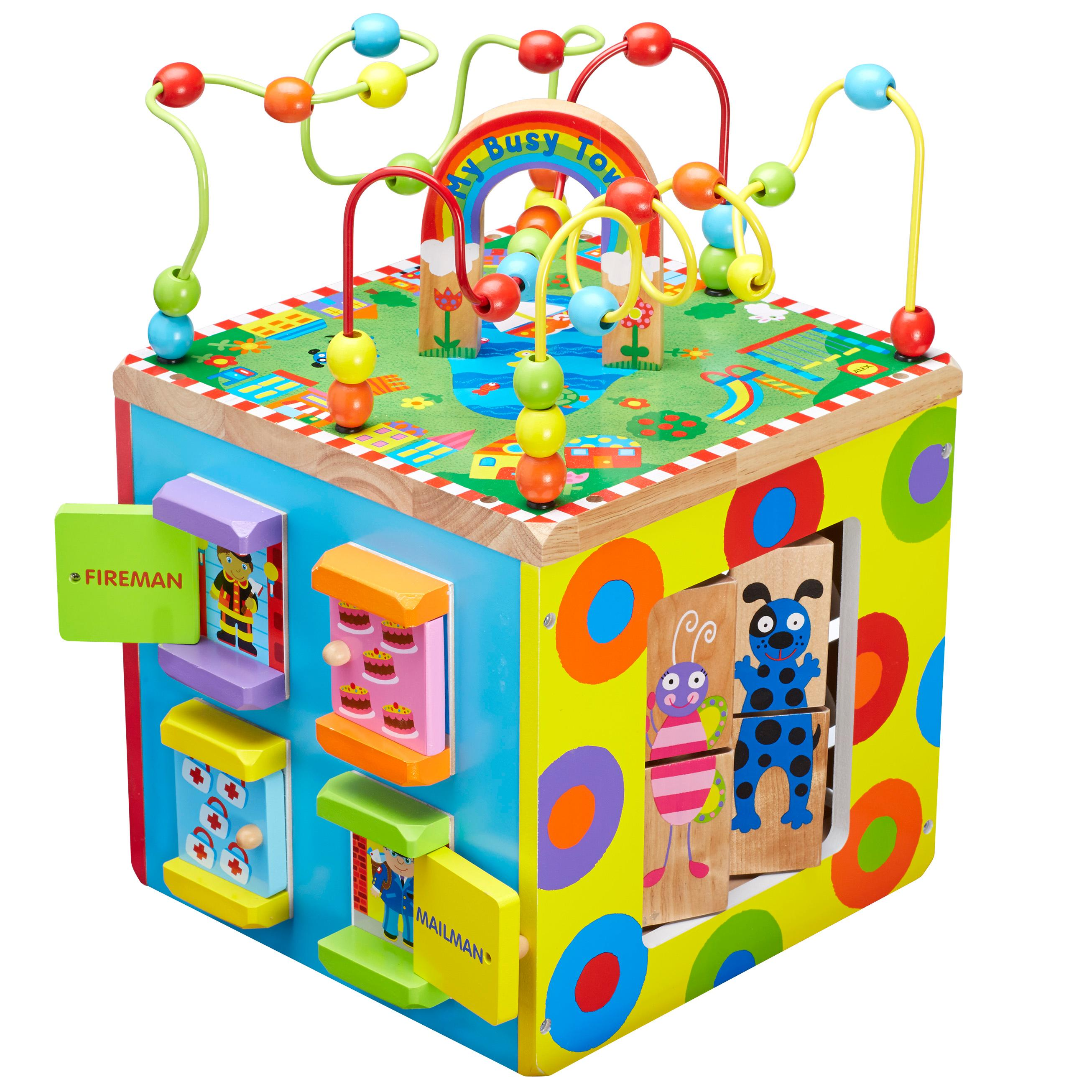 ALEX Toys ALEX Jr My Busy Town Baby Wooden Developmental Toy