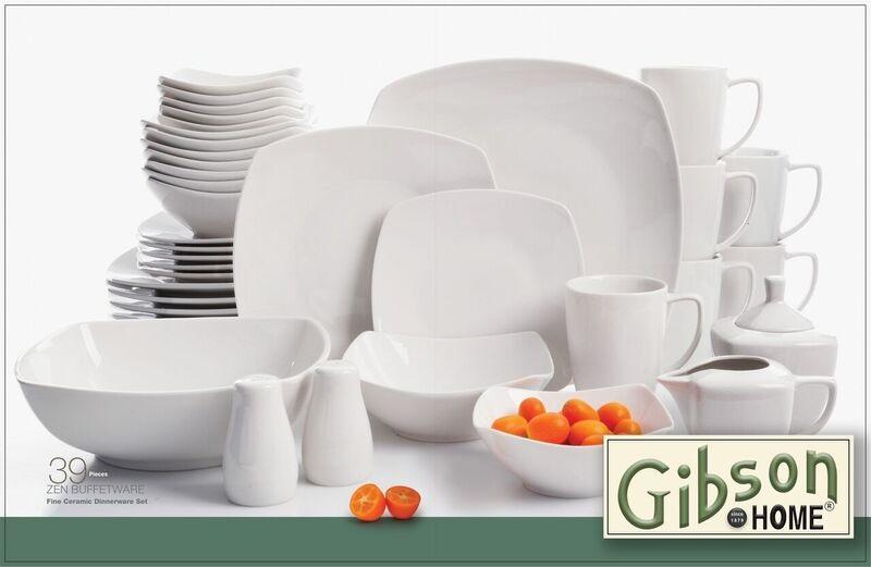 View larger & Amazon.com: Gibson Home Zen Buffetware 12 Piece Dinnerware Set ...