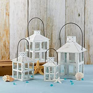Vintage White Lanterns  - Available in 4 different sizes