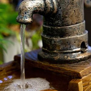 natural, waterfall, fountain, rustic
