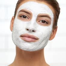 Leave creamy face mask on for 5-10 minutes.