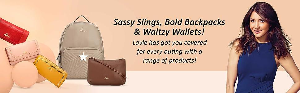 Lavie Handbags, Handbags for women, Backpacks, Wallets for women, Sling Bags, Lavie Bags